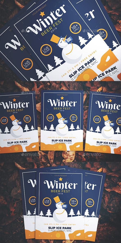 Winter Beer Fest Flyer - Events Flyers