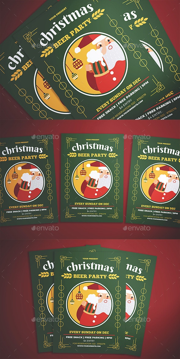Christmas Beer Party Flyer - Events Flyers