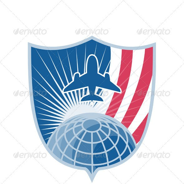 Airplane Jet Plane World Shield