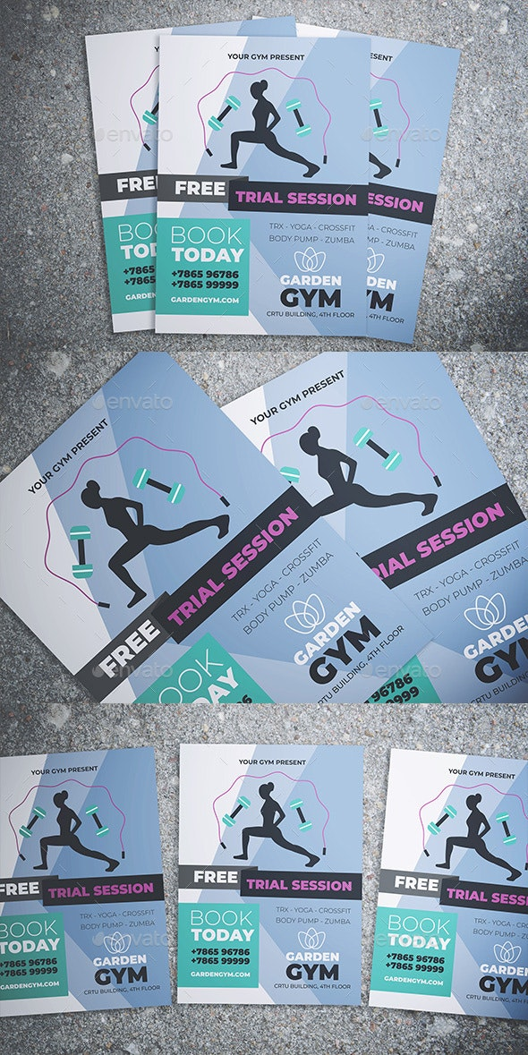 Gym and Fitness Flyer - Events Flyers
