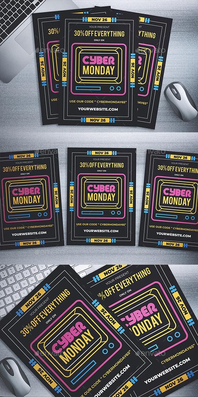 Cyber Monday Sale Flyer - Events Flyers