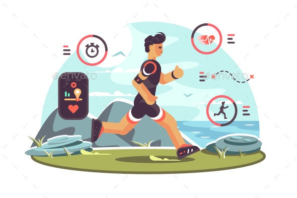 Sports Apps for Fitness - Sports/Activity Conceptual