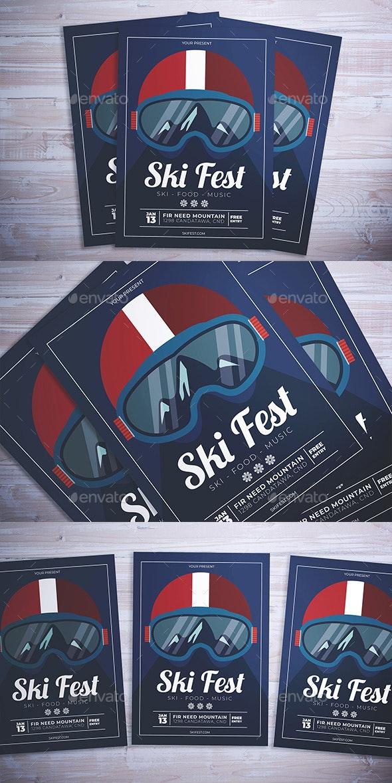 Ski Fest Flyer - Events Flyers