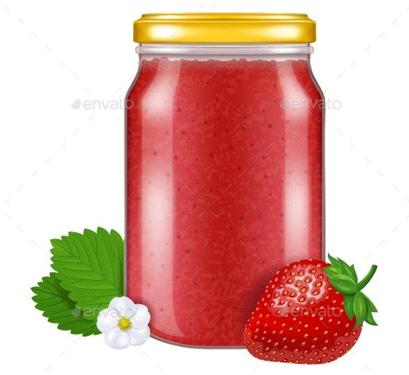 Strawberry Jam - Food Objects