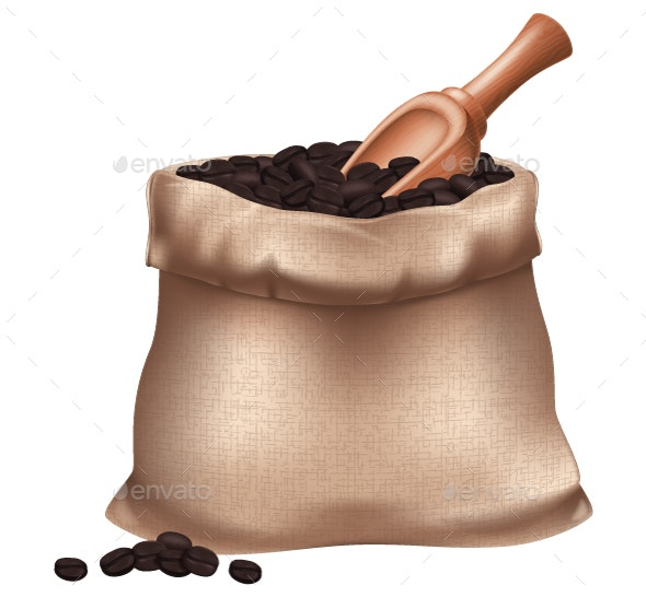 Sack of Coffee Beans - Food Objects