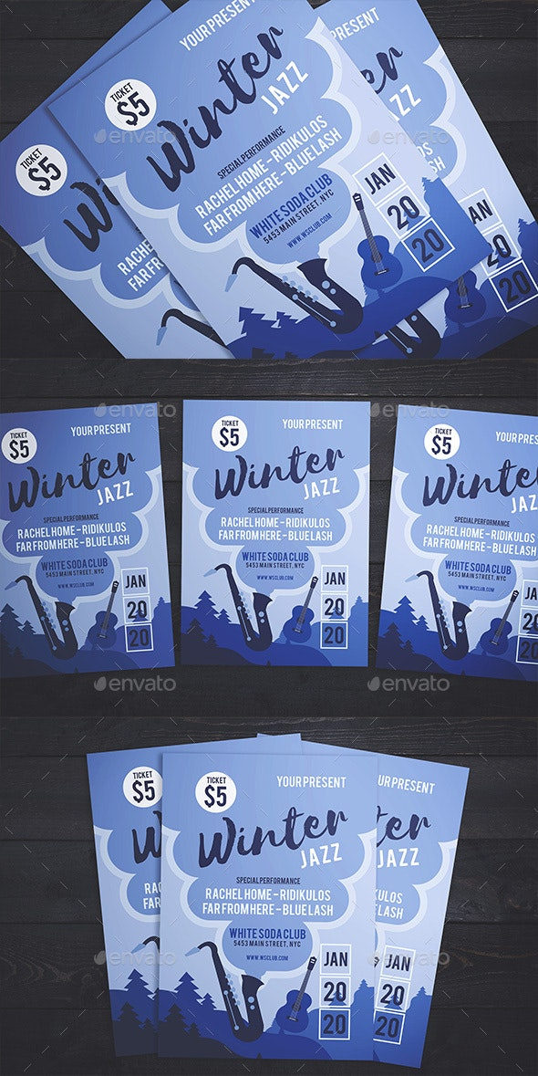 Jazz On Winter Flyer - Events Flyers