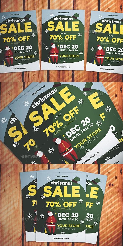 Christmas Santa Sale Flyer - Events Flyers