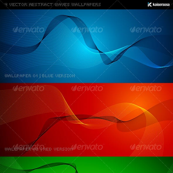 4 Vector Abstract Waves Wallpapers