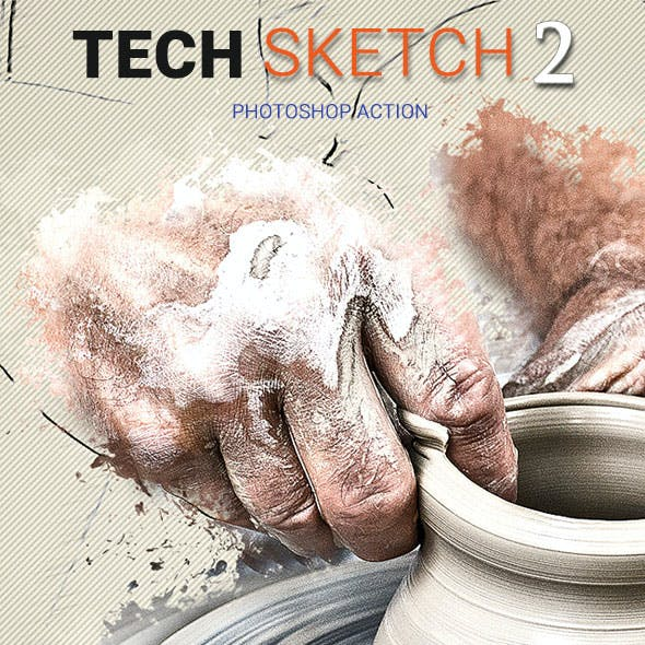 Tech Sketch2 Photoshop Action