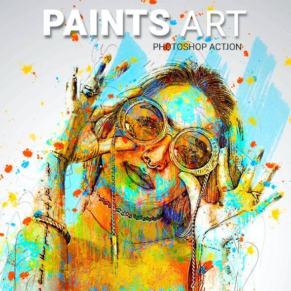 Paints Art Photoshop Action