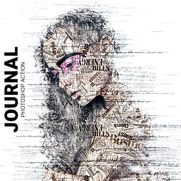 Journal Photoshop Action