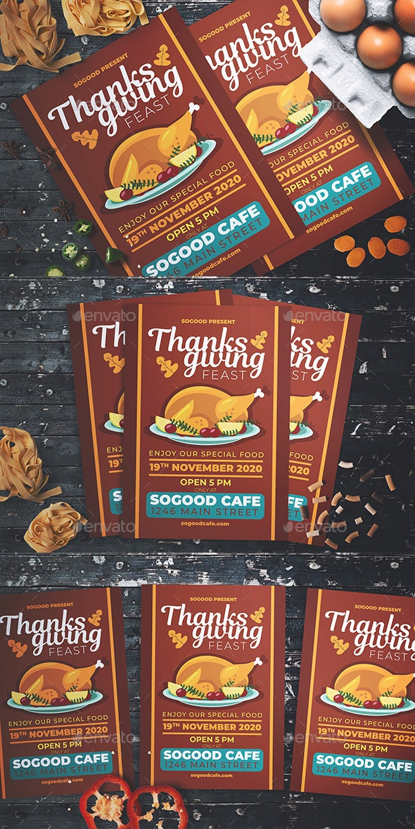 Thanksgiving Feast Flyer - Events Flyers