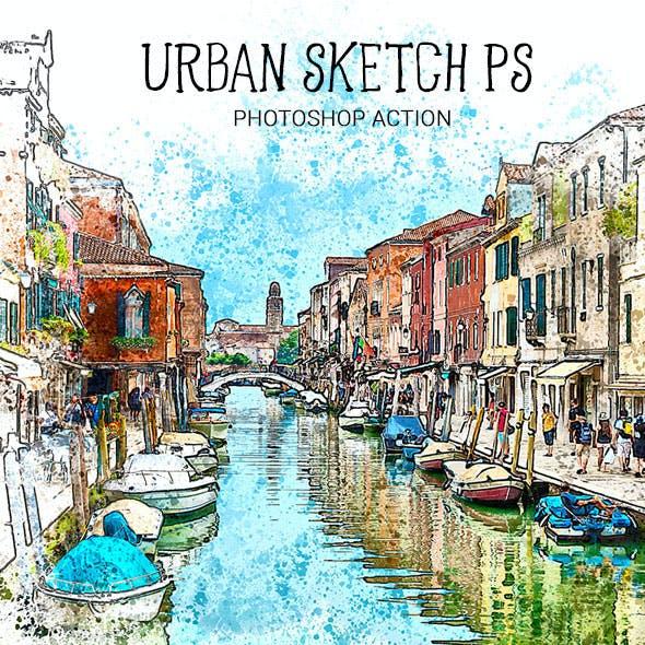 Urban Sketch PS Photoshop Action