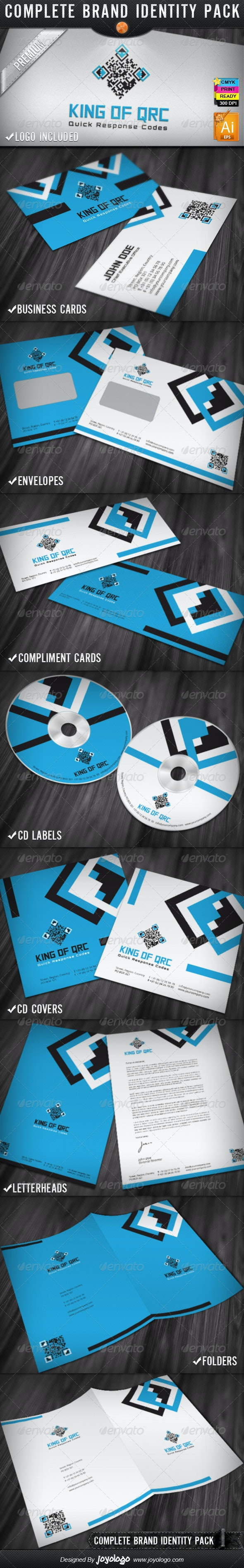 King of QR Codes Corporate Stationery Templates - Stationery Print Templates