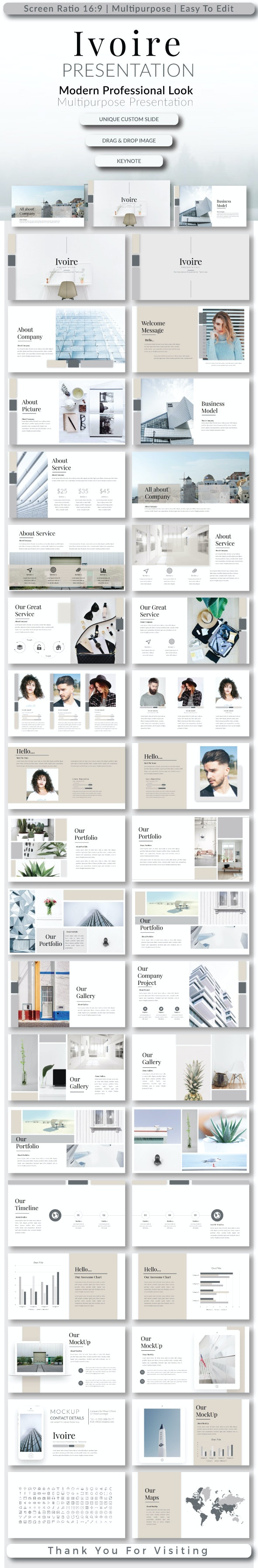 Ivoire Keynote Templates - Creative Keynote Templates