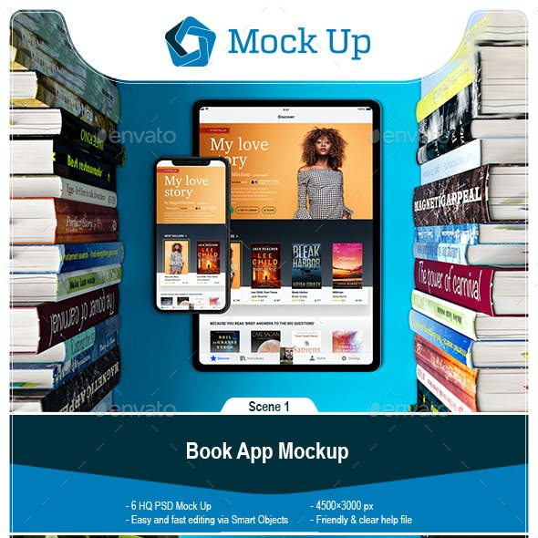 Book App Mockup