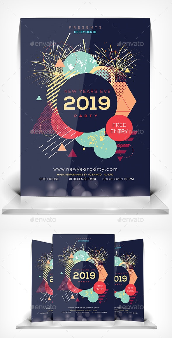Happy New Year Flyer - Events Flyers