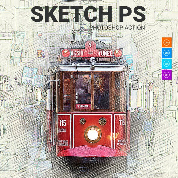 Sketch ps Photoshop Action
