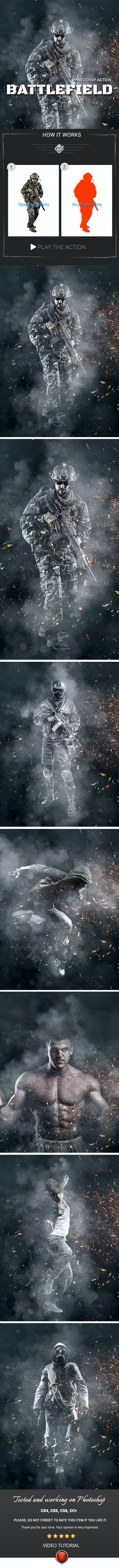 Battlefield Photoshop Action - Photo Effects Actions