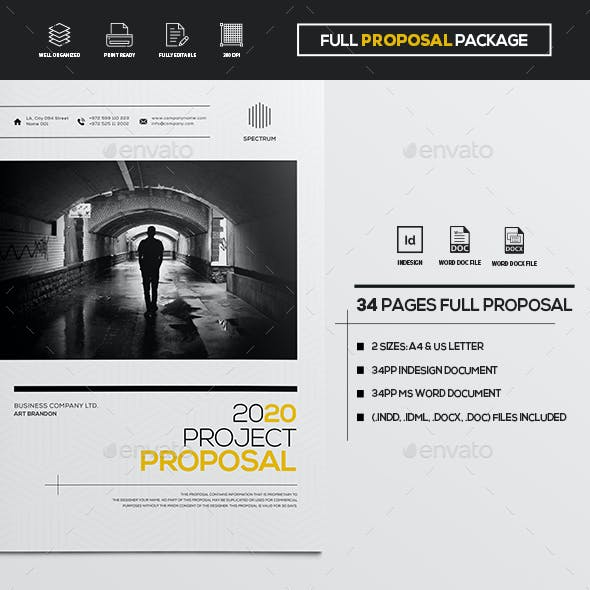 34 Pages Full Proposal Package A4 / Us Letter