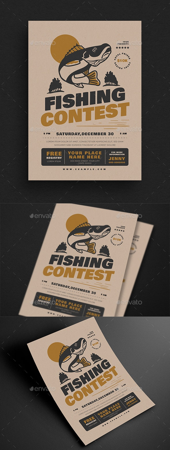 Fishing Contest Event Flyer - Events Flyers