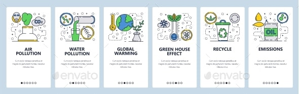 Website Onboarding Screens Global Warming