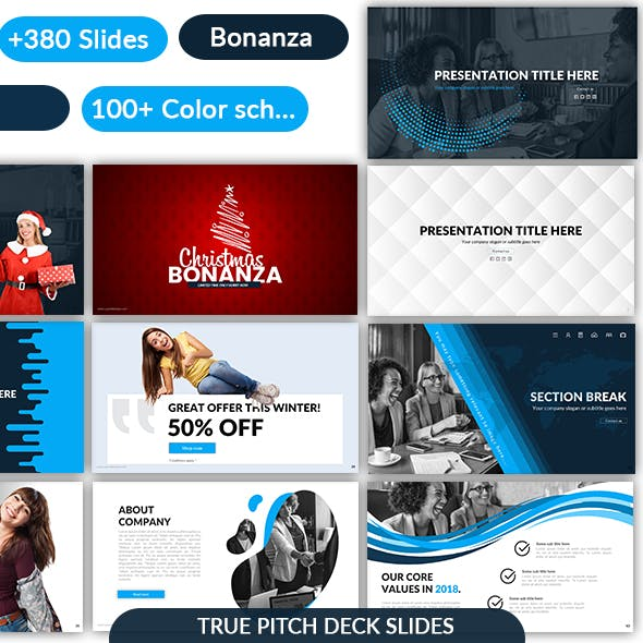 Pitch Deck Bonanza - Google Slides Template