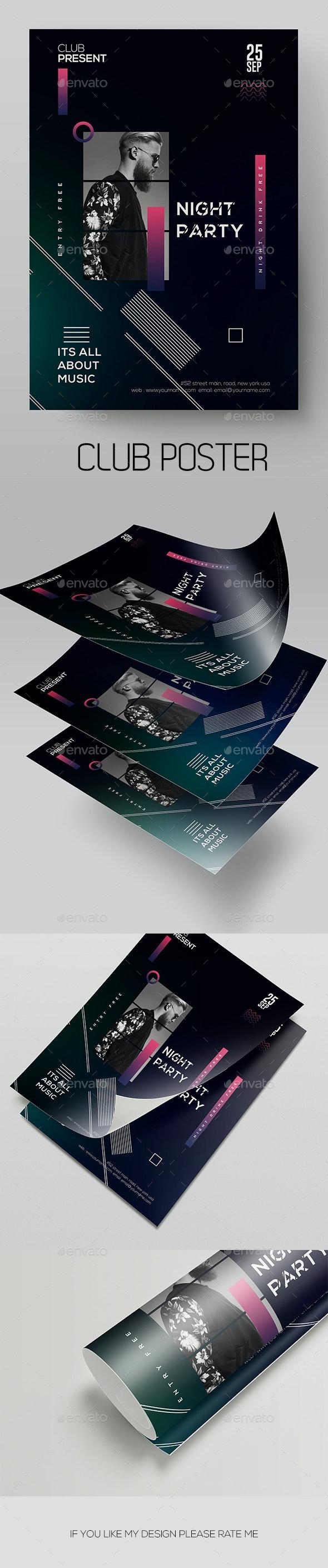 Night Club Flyer Template - Flyers Print Templates