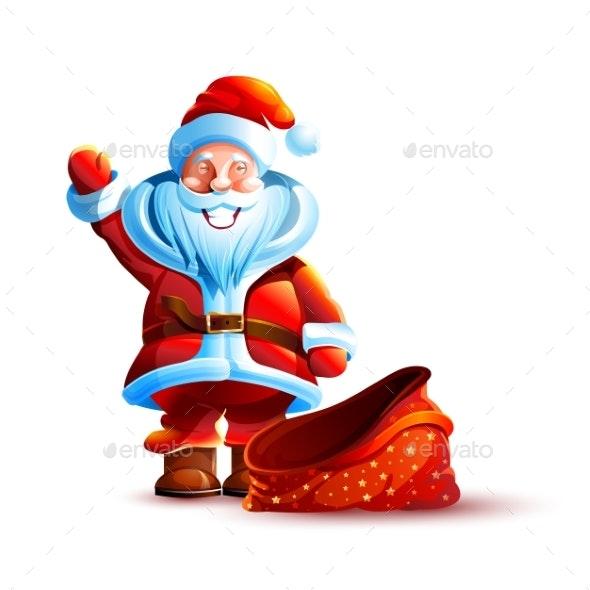 Illustration Isolated Character Santa - New Year Seasons/Holidays
