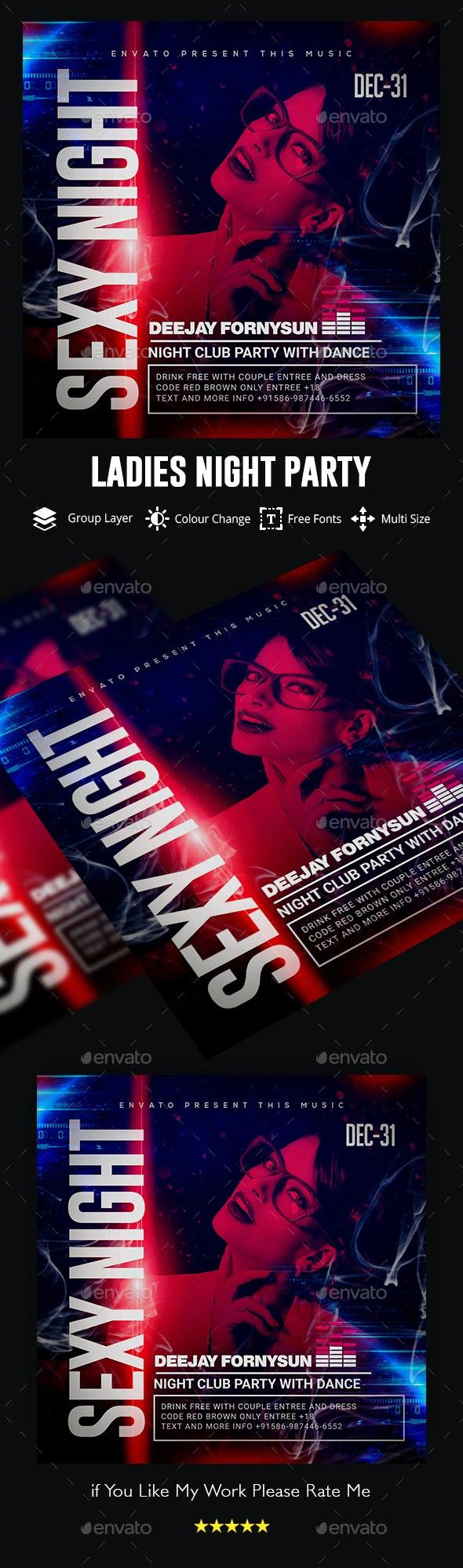 Ladies Night Flyer - Events Flyers