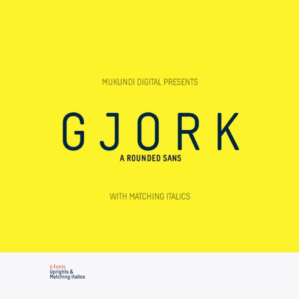 Gjork Sans Rounded Font