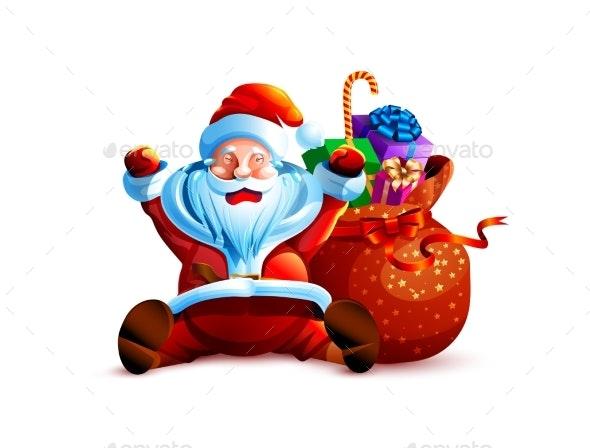 Illustration Isolated Character Santa - Christmas Seasons/Holidays