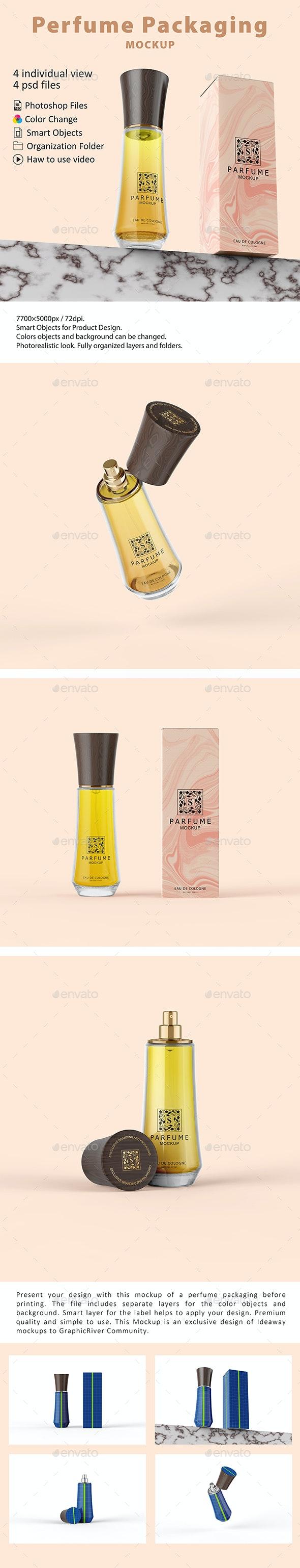 Perfume Packaging Mockup - Beauty Packaging