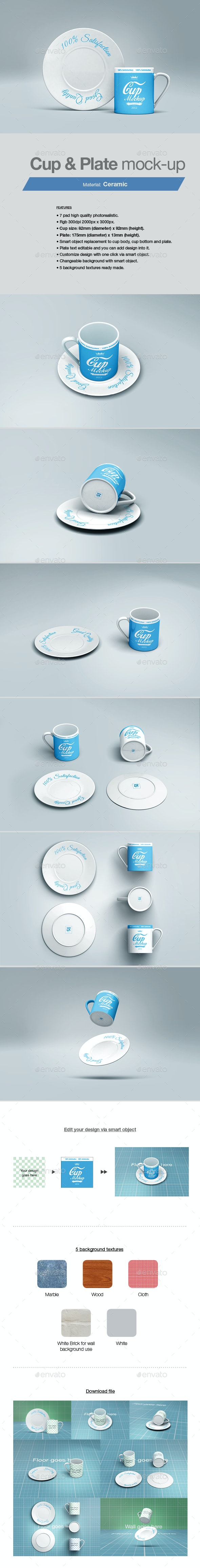 Cup & Plate Mock-up - Packaging Product Mock-Ups