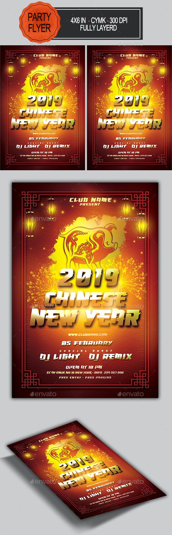 Chinese New Year Flyer - Holidays Events