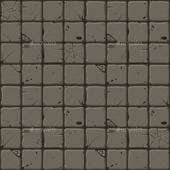 Texture of Stone Tiles Seamless Background