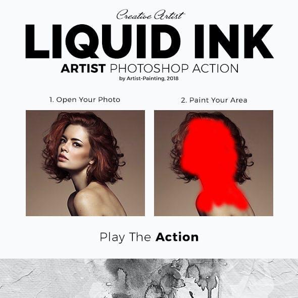Liquid Ink Artist Photoshop Action