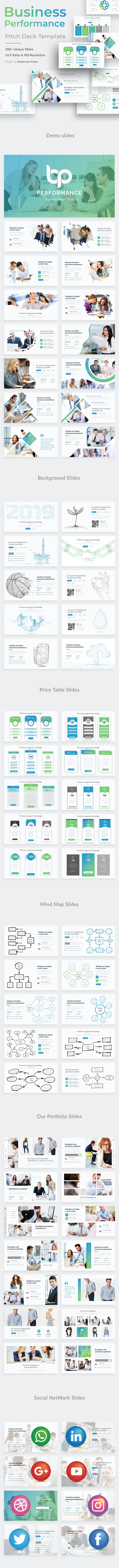 Business Performance Pitch Deck Powerpoint Template - Business PowerPoint Templates