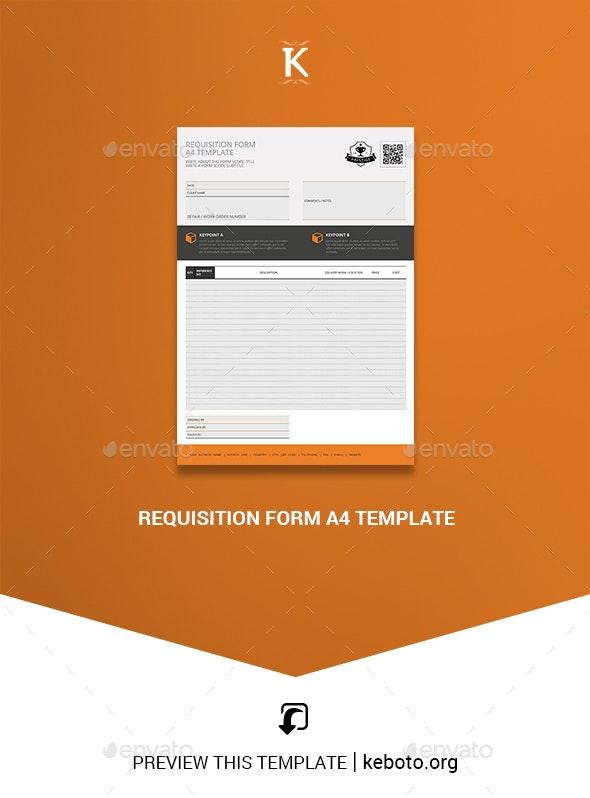 Requisition Form A4 Template - Miscellaneous Print Templates