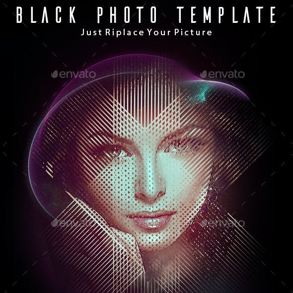 Black Photo Template
