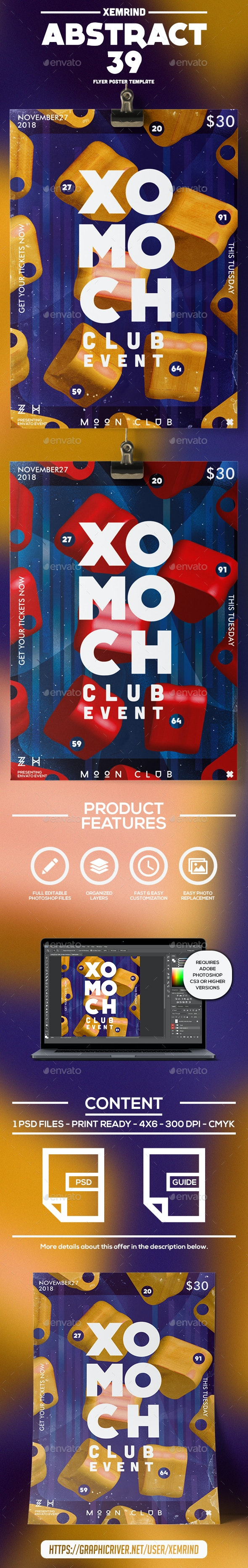 Abstract 39 Flyer/Poster Template - Events Flyers