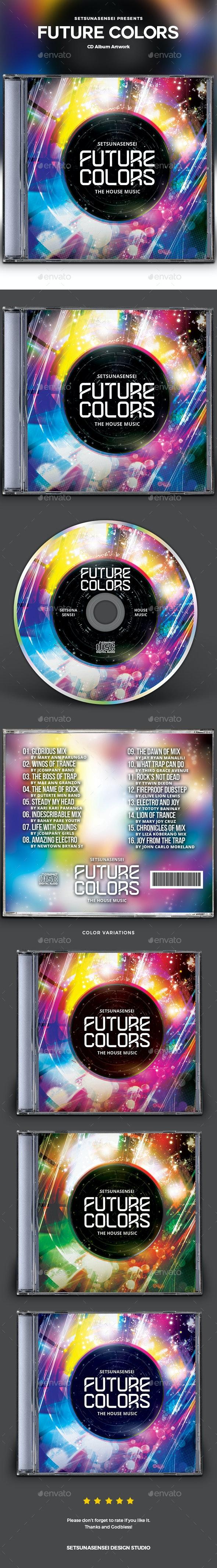 Future Colors CD Album Artwork - CD & DVD Artwork Print Templates