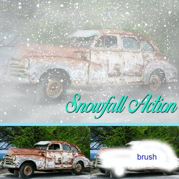 Snowfall Photoshop Action Vol 1