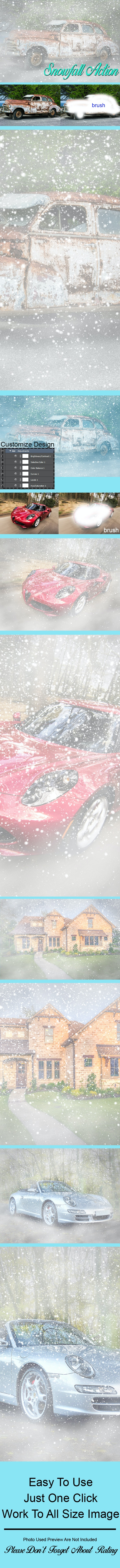 Snowfall Photoshop Action Vol 1 - Photo Effects Actions