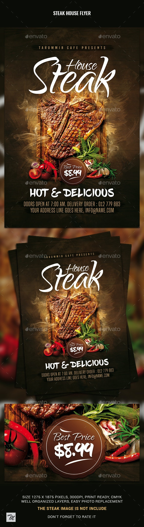 Steak House Flyer - Restaurant Flyers