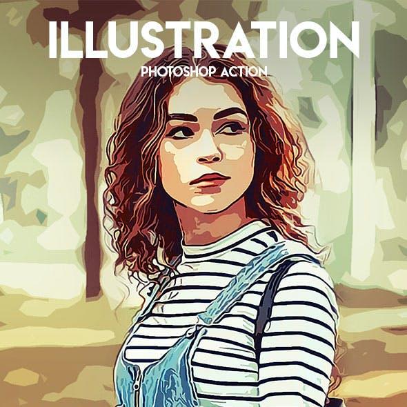 Illustration Photoshop Action