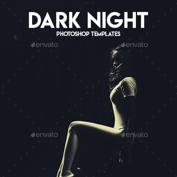Dark Night Photoshop Templates