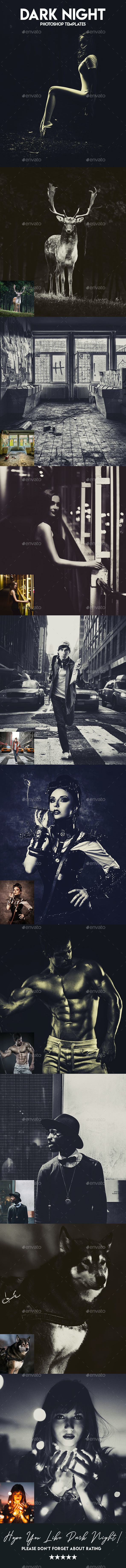 Dark Night Photoshop Templates - Urban Photo Templates