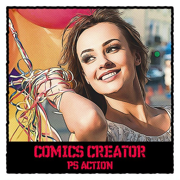 Comics Creator Photoshop Action