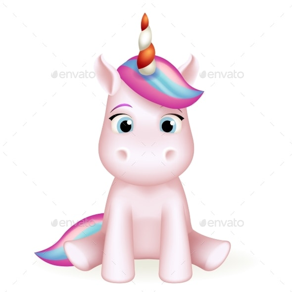 Cartoon Unicorn Toy Character Design - Animals Characters